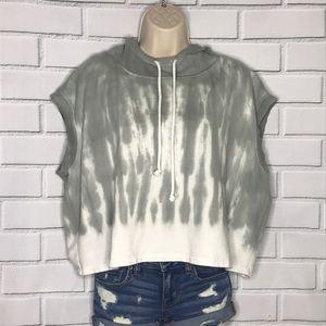 NWOT tie dye sleeveless hoodie